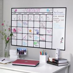 Love this Dry-Erase Calendar Decal from PBteen - the new PB Dorm stuff is nice! Wish it was around when I was in school...