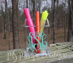 $11.75. Personalized Acrylic Pen/Pencil Cup