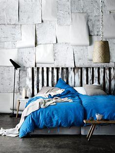Maison in Brilliant Blue Stylist Selection via @aurahome #bedroom #slaapkamer