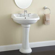 """225 Soleri Pedestal Sink - 8"""" Centers - White"""