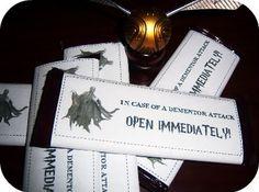 "Dementor Chocolate, ""In case of Dementor attack OPEN IMMEDIATELY!"""