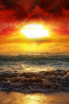 Sunset, beach ~