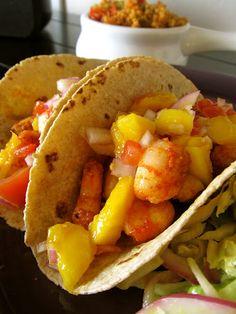 Sweet & Smokey Shrimp Tacos with Mango Salsa