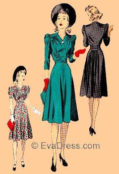 1940 Dresses