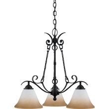 View the Quoizel JF5103 Tuscan Three Light Chandelier from the Jennifer Collection at LightingDirect.com.