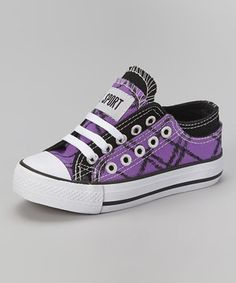 This Black & Purple Sketch Sneaker by DOK Shoes is perfect! #zulilyfinds