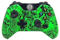 Modded Controller Mod Rapid Fire Controller for Xbox One and Tons More Features With Green Skulls Shell and Compatible With All Games 1 Advanced Warfare ** Be sure to check out this awesome product.Note:It is affiliate link to Amazon.