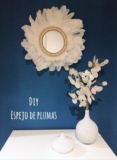 Como hacer un espejo de plumas #diy #diyhomedecor #diydecor #manualidades #espejos