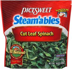 I'm learning all about STEAM'ABLES ALL NATURAL Cut Leaf Spinach 10 OZ STAND UP BAG at @Influenster!