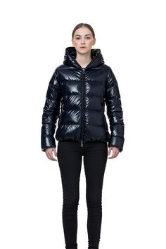 fd807c3d1916 short full zip down jacket with matching lining - thiacinque NAVY BLUE