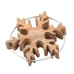 Flocons en bois Saphira (lot de 3) #Noel #deco