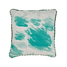 Scribble-Green cushion from Bonnie and Neil