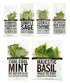 Waitrose fresh herb packaging. Waitrose products really do exhibit some superb packaging designs. I buy this range myself
