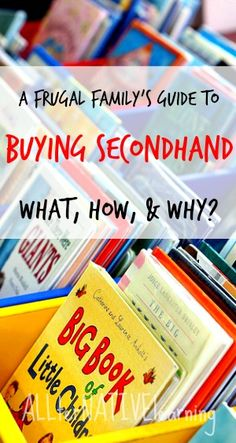 Learn to buy activities, crafts, learning materials, clothes, and much more from thrift stores, secondhand, and on clearance! from @ALLterNATIVElrn {Kara Carrero} {Kara Carrero}