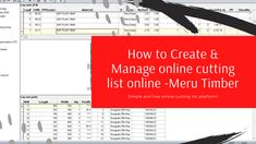 This video will show how create and manage your cutting list online with Meru Timber cutting list platform. #cuttinglist #cuttosize #edgebanding #kitchencabinets #cutlist Timber Panelling, Platform, Create