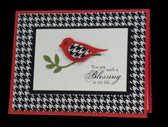 Crafts by Beth: HOUNDSTOOTH GREETING CARDS