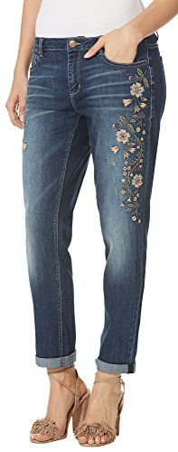 Vintage America Blues Women's Gratia Bestie Jean with Print and Embroidery