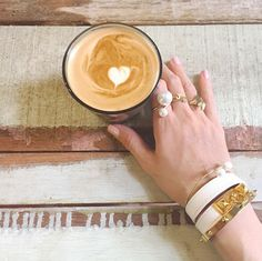ring stack // pearls x gold rings