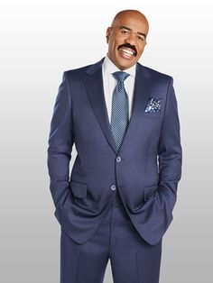 """Steve Harvey, of the """"Steve Harvey"""" and """"Family Feud"""" TV shows, shares how he and wife Marjorie keep Celebrities, Suit Fashion, Style, Flirting Moves, Mens Suits, Steve, Men Dress, Steve Harvey Suits, Suits"""