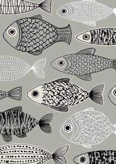 Grey Fish, limited edition giclee print
