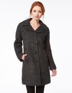 Manteau de laine tweed mélangé par Anne Klein