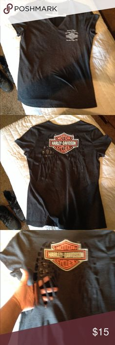 Harley Davidson t-shirt, never worn Soft , angel wings cut-out on the back Harley-Davidson Tops Tees - Short Sleeve