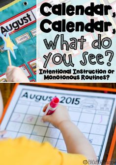 Plan you calendar instruction for the entire year to grow, engage and involve your students. Help each of them to learn how to use a calendar. There are many options as to what you can use. #calendar #calendarinstruction #intentionalinstruction #calendaruse #useacalendar #mrsjonescreationstation