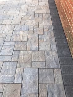 My pavers toffee onyx light with onyx borders - Yelp Front Walkway Landscaping, Concrete Walkway, Home Landscaping, Patio Deck Designs, Traditional Porch, Backyard Renovations, Backyard Patio, Tile Floor, Flooring