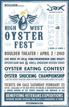 High West Oyster Fest poster.  #Boulder #ShuckOn