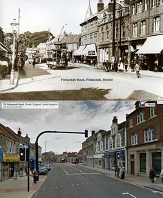 Bristol Then & Now - Fishponds Road Fish Ponds, Then And Now, Old Pictures, Historical Photos, Bristol, United Kingdom, Past, The Neighbourhood, British
