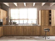 Cucina in abete ardesia con penisola MAESTRALE 03 by Scandola Mobili
