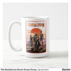 The Mandalorian Desert Sunset Group Art Coffee Mug Star Wars Mugs, Star Wars Gifts, Disney Wedding Gifts, Star Wars Bounty Hunter, Cara Dune, Star Wars Merchandise, Desert Sunset, Group Art, The Force Is Strong