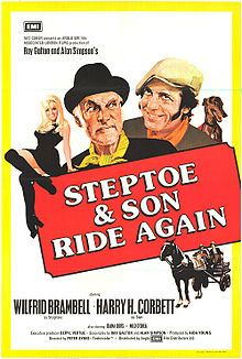 Watch Steptoe and Son Ride Again full hd online Directed by Peter Sykes. With Wilfrid Brambell, Harry H. Albert Steptoe and his son Harold are junk dealers, British Comedy Movies, British Sitcoms, Comedy Tv, Classic Comedies, Classic Films, Classic Tv, Old Movies, Vintage Movies, Vintage Posters