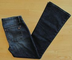 "Joe's Jeans 30 Provocateur Petite Boot cut Dark Denim Hoxten distressed Low 31"" #JoesJeans #BootCut"
