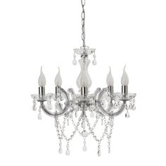 Etienne 5 Light Chandelier Chrome - Chandelier - Lighting & Fans