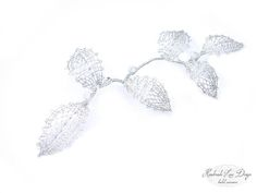 ♥♥♥♥♥♥♥♥♥♥♥♥♥♥♥♥♥♥♥♥♥♥♥♥♥♥♥♥♥♥♥  Romantic Bobbin Lace Wedding hair comb with Swarovski Crystal Elements. The Lace Head Piece can be worn multiple ways with multiple hair styles.    These wedding hair accessories are the perfect finishing touch for brides and bridesmaids ♥   comfortable to wear and easy to style. - Available in Silver as shown or Gold  - Everything is fabricated in Swansea studio by hand - Please allow 1 week for productions plus transit time for delivery - Sales on this item…