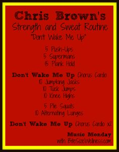 Chris Brown Strength and Sweat Routine