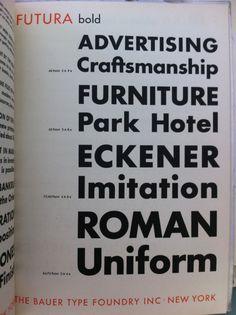 "Futura Bold ""ft"" ligature!"