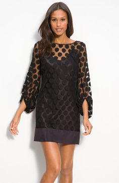 Polka Dot Lace Shift Dress