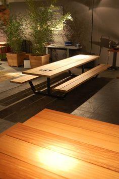 picknicktafel picknickbank zwart iroko hout