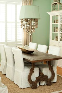 South Tampa Home - transitional - dining room - tampa - The Blue Moon Trading Company