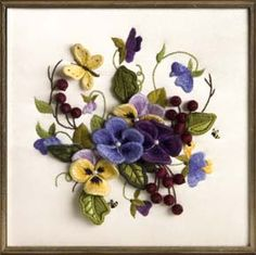 Pansies in Bloom by Joyce Feucht ~ 2007 Exemplary Ribbon Winner - Judges Choice ~ National Academy of Needlearts