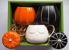 Starbucks JAPAN Limited Halloween 3 different Pumpkin Mug Cup Set  Autumn 2014