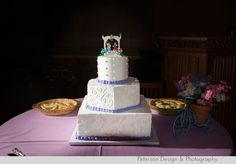 Purple, Pink and LEGO wedding at Neighborhood Universalist Church in Pasadena, adjacent to the historical Gamble House, dress from Brides Against Breast Cancer
