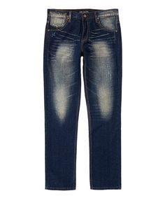This Dark Indigo Light Wash Slim-Fit Jeans is perfect! #zulilyfinds