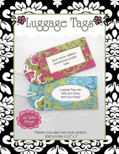 lila tueller designs - so much nicer than store-bought Fabric Crafts, Sewing Crafts, Sewing Projects, Sewing Ideas, Christmas Card For Teacher, Luggage Tag Template, Crafty Gemini, Online Cards, Diy Purse