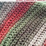 Free Crochet Pattern: Fast and Easy Throw Blanket or Afghan. Lion Brand Vanna's Choice Medium Weight Acrylic Yarn 2 skeins Beige 3 skeins Taupe 2 skeins Brick 3 skeins Dusty Green