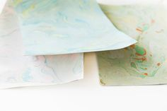 mail postcards marbled paper
