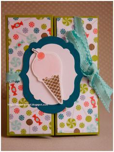 stampin'up card whit simply scored
