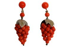 Coral Grape Vermeil Drop Earrings on OneKingsLane.com 625/425